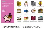 filled outline style icon pack... | Shutterstock .eps vector #1185907192