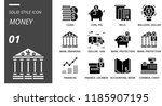solid style icon pack for money ... | Shutterstock .eps vector #1185907195