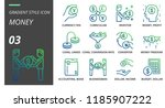 gradient style icon pack for... | Shutterstock .eps vector #1185907222