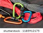 metal carabine for... | Shutterstock . vector #1185912175