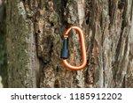 metal carabine for... | Shutterstock . vector #1185912202