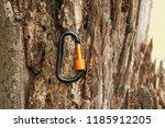 metal carabine for... | Shutterstock . vector #1185912205