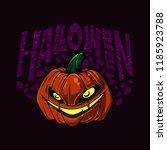 halloween pumpkin scary vector... | Shutterstock .eps vector #1185923788