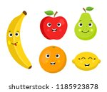 collection of five cartoon... | Shutterstock .eps vector #1185923878