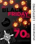 black friday sale vector... | Shutterstock .eps vector #1185924982
