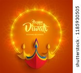 happy diwali. paper graphic of... | Shutterstock .eps vector #1185930505