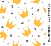 crowns for little prince... | Shutterstock .eps vector #1185945508