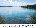 green lake in bc  canada as... | Shutterstock . vector #1185947698