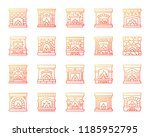 fireplace thin line icons set.... | Shutterstock .eps vector #1185952795