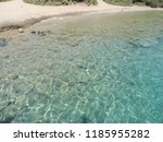 crystal clear water of aegean...   Shutterstock . vector #1185955282