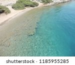 crystal clear water of aegean...   Shutterstock . vector #1185955285