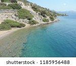 aegean island   rocks and clear ...   Shutterstock . vector #1185956488