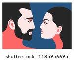 romantic concept. couple in...   Shutterstock .eps vector #1185956695