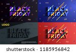 black friday. sale and... | Shutterstock .eps vector #1185956842