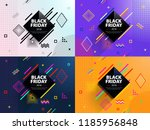 black friday 2018. sale and... | Shutterstock .eps vector #1185956848
