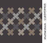 ethnic boho seamless pattern.... | Shutterstock .eps vector #1185959905