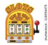 vector slot machine icon   Shutterstock .eps vector #118596475