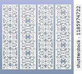 laser cut decorative lace... | Shutterstock .eps vector #1185974722
