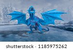 3d cg rendering of flying dragon | Shutterstock . vector #1185975262
