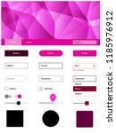 dark pink vector web ui kit in...