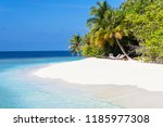 sea of the beautiful coral reef ... | Shutterstock . vector #1185977308