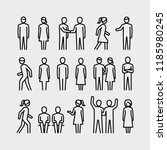 people vector line icons | Shutterstock .eps vector #1185980245