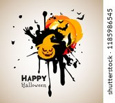 halloween pumpkin vector... | Shutterstock .eps vector #1185986545