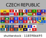 all flags of regions of czech... | Shutterstock .eps vector #1185986695