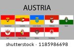 all flags of regions of austria.... | Shutterstock .eps vector #1185986698