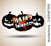 happy halloween day. cute... | Shutterstock .eps vector #1185987505
