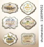 old labels collection | Shutterstock .eps vector #118599052