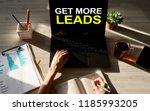 get more leads banner. digital... | Shutterstock . vector #1185993205
