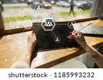 organisation structure chart ... | Shutterstock . vector #1185993232