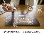 e commerce. internet shopping.... | Shutterstock . vector #1185993298