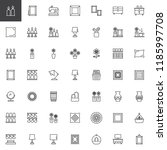 decorating outline icons set.... | Shutterstock .eps vector #1185997708