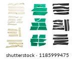 set of white  green  black...   Shutterstock . vector #1185999475