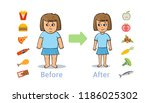 the influence of diet on the... | Shutterstock .eps vector #1186025302