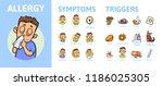 allergy infographic set.... | Shutterstock .eps vector #1186025305