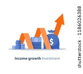 income growth chart  banking... | Shutterstock .eps vector #1186026388