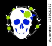 pattern with image a skull and... | Shutterstock .eps vector #1186031932