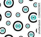 seamless pattern with evil eye... | Shutterstock .eps vector #1186032385