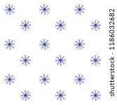 snow seamless pattern blue... | Shutterstock .eps vector #1186032682