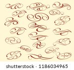 set of elegant decorative... | Shutterstock .eps vector #1186034965