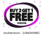 buy 2 get 1 free  sale banner... | Shutterstock .eps vector #1186045882
