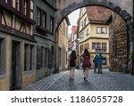 rothenburg ob der tauber ... | Shutterstock . vector #1186055728