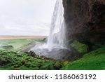 seljalandsfoss is one of the... | Shutterstock . vector #1186063192