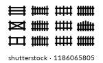 sey of black picket fence... | Shutterstock .eps vector #1186065805