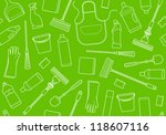 seamless background of cleaning | Shutterstock .eps vector #118607116