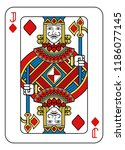a playing card jack of diamonds ... | Shutterstock .eps vector #1186077145