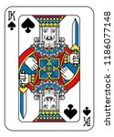 a playing card king of spades... | Shutterstock .eps vector #1186077148